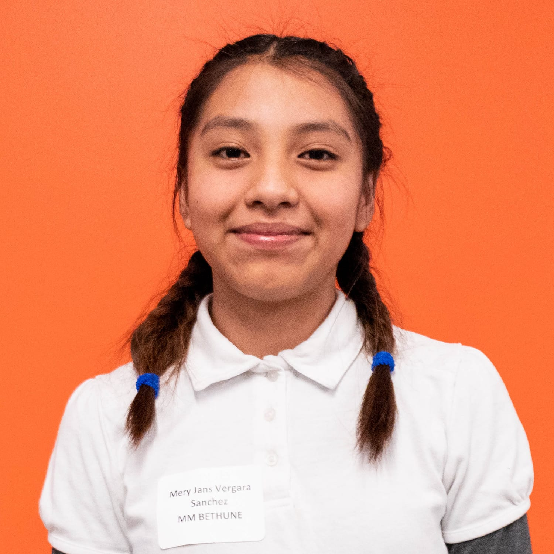Mery Jans Vergara Sanchez MM Bethune Grade 7