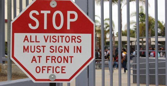 school security gate